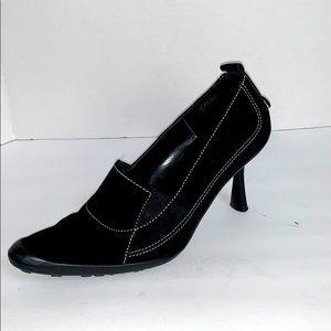 Anne Klein Go Black Leather Upper Sport Heel 6